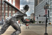 St. Louis Cardinal Baseball Prints - Busch Stadium Print by Jane Linders