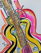 Guitar Painting Originals - Buy this Original and Prints by Gayla Hollis