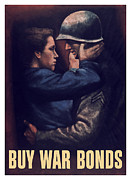 World War Two Painting Framed Prints - Buy War Bonds Framed Print by War Is Hell Store