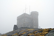Trans-atlantic Posters - Cabot Tower in the fog. Newfoundland. Poster by Fernando Barozza