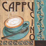 Coffee Cup Prints - Cafe Nouveau 1 Print by Debbie DeWitt