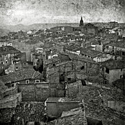 Calahorra Prints - Calahorra roofs from the bell tower of Saint Andrew church Print by RicardMN Photography