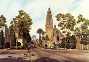 Balboa Park Posters - California Tower Poster by John YATO