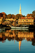 Docked Boat Framed Prints - Camden Maine Framed Print by Brian Jannsen