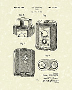 Photography Drawings Framed Prints - Camera 1940 Patent Art Framed Print by Prior Art Design