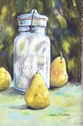 Southern Indiana Painting Framed Prints - Canned Pears  Framed Print by Claude Schneider