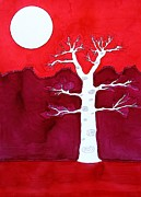 Sol Luckman Framed Prints - Canyon Tree original painting Framed Print by Sol Luckman
