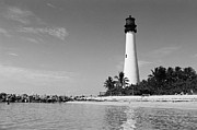 Cape Florida Lighthouse Art - Cape Florida Lighthouse by William Wetmore
