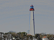 New England Lighthouse Mixed Media Prints - Cape May Print by Dennis Dugan