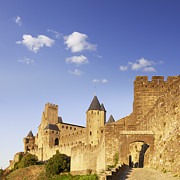 Languedoc Photo Prints - Carcassonne Languedoc-Roussillon France Print by Colin and Linda McKie