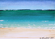 Calm Waters Prints - Caribbean Ocean Turquoise Waters Print by Robyn Saunders