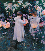 American Singer Paintings - Carnation Lily Lily Rose by John Singer Sargent