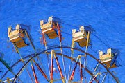 Empty Chairs Digital Art Posters - Carnival Ferris Wheel Poster by Shazam Images