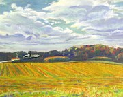 Area Pastels Prints - Carrboro Farm II Print by Frank Giordano