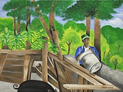 Gullah Art Prints - Carrying the Load Print by Patricia Sabree