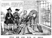 Bank Panic Posters - Cartoon: Panic Of 1837 Poster by Granger