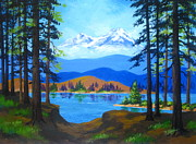 Pacific Northwest Painting Posters - Cascade  Lake Poster by Shasta Eone