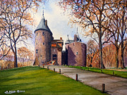 Wales Paintings - Castell Coch  by Andrew Read
