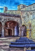 Historic Fortress Digital Art Prints - Castillo de San Cristobal Print by Thomas R Fletcher