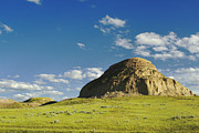 Saskatchewan Framed Prints - Castle Butte Framed Print by Charline Xia
