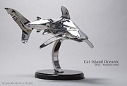 Shark Sculptures - Cat Island Oceanic shark by Victor Douieb