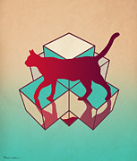 Kids Room Art Metal Prints - Cat Metal Print by Mark Ashkenazi