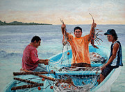 Net Pastels - Catch of the Day by Lorraine McFarland