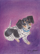 Doggy Pastels Framed Prints - Cecily Framed Print by Theresa Stinnett