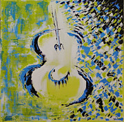 Guitar Painting Originals - Celebrate by Dan Campbell