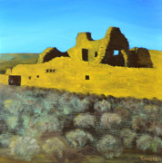 National Parks Paintings - Chaco Dwelling by Tom Amiss