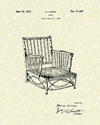 Chair Drawings - Chair 1932 Patent Art by Prior Art Design