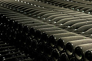 Fermentation Photos - Champagne Bottles Aging by Kevin Miller