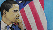Obama Pastels Framed Prints - Change to believe in Framed Print by Marvin Ryan