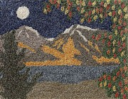 Mountain Tapestries - Textiles Prints - Changing Seasons Print by Jan Schlieper