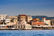 Crete Framed Prints - Chania Harbour Framed Print by Gabriela Insuratelu