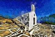 Cyclades Posters - Chapel in Ios island Poster by George Atsametakis