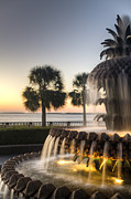 All - Charleston Pineapple Fountain Sunrise by Dustin K Ryan