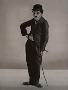 Hitler Paintings - Charlie Chaplin by Paul Meijering