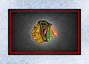 Puck Prints - Chicago Blackhawks Print by Joe Hamilton