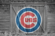 Baseball Glove Posters - Chicago Cubs Poster by Joe Hamilton