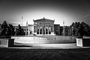 Exterior Prints - Chicago Field Museum in Black and White  Print by Paul Velgos