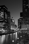 Chicago Reflections Posters - Chicago River Reflections Poster by Timothy Johnson