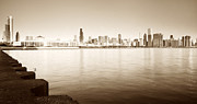Tomasz Worek - Chicago Skyline in sepia