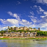Chateau Prints - Chinon Loire Valley France Print by Colin and Linda McKie