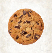 Cookie Painting Prints - Chocolate Chip Cookie  Print by Danny Smythe