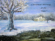 Vale Painting Prints - Christmas at the Vale Print by Rita Brown