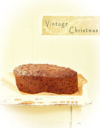 Parchment Prints - Christmas Cake Print by Christopher and Amanda Elwell