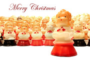 Solo Girl Prints - Christmas Card choir candles figurines Print by Adam Long