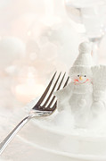 Banquet Prints - Christmas dinner Print by Mythja  Photography