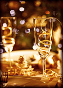 Banquet Posters - Christmas table setting Poster by Anna Omelchenko